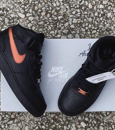 nike air force high czarno-miedziane