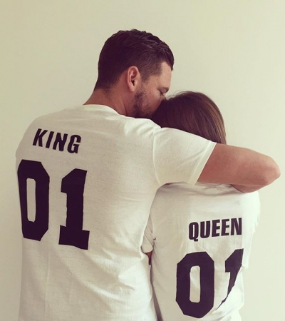 T-shirty dla pary King i Queen