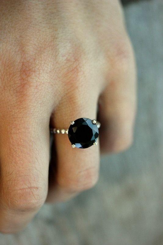 Chwalebne Pierścionek z czarnym oczkiem - gdzie kupić ? , #czarny HL52