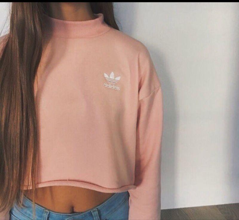 adidas bluza pudrowy róż