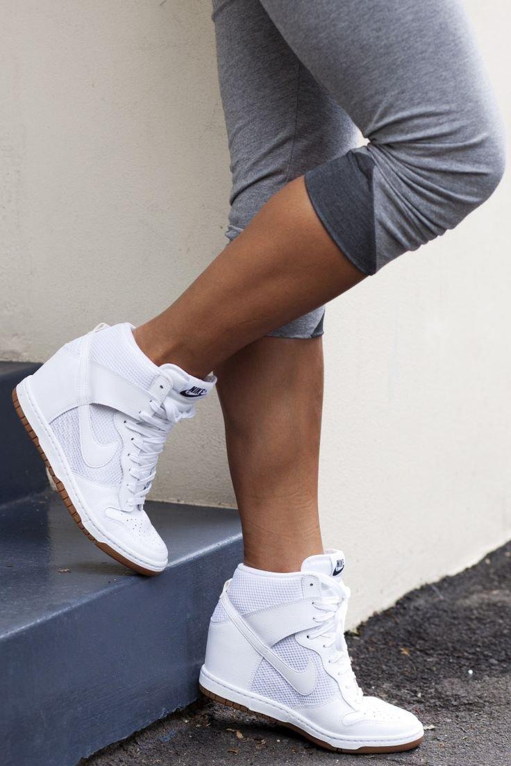 separation shoes 7f50f 81e5f Botki Nike na koturnie - gdzie kupić  , buty, nike, botki, białe,  sneakersy, obuwie, sneakers, koturn, buty sportowe