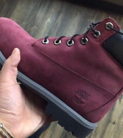 ładne buty popularna marka sklep Bordowe Timberland - gdzie kupić ? , #buty, #bordo, #bordowe ...
