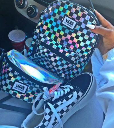 Los Angeles nowe style zegarek holograficzny plecak vans w szachownicę - gdzie kupić ...