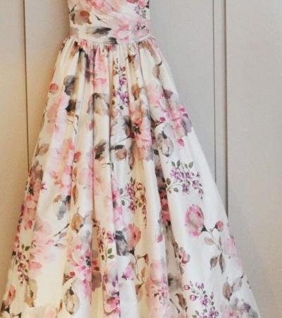 56b7908787 Długa suknia w kwiaty - gdzie kupić