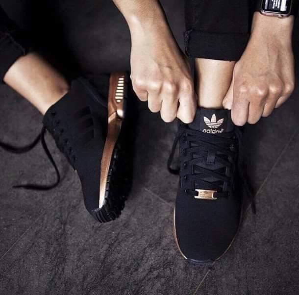 adidas buty damskie czarno złote