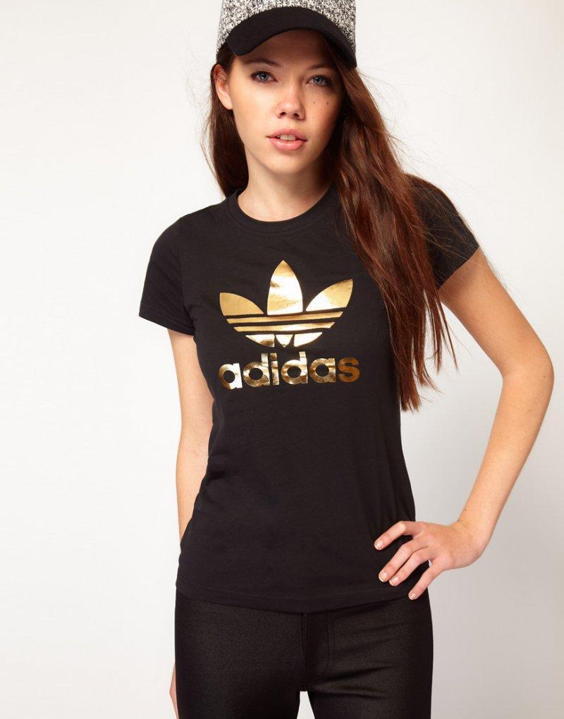 nieźle najlepszy wybór szukać Koszulka adidas, ze złotym napisem