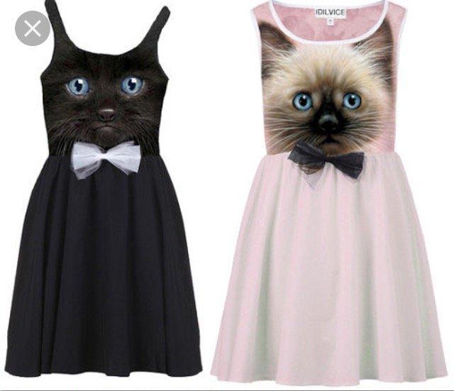 Ogromny Czarna sukienka kot - gdzie kupić ? , #sukienka, #czarna, #kot TJ56