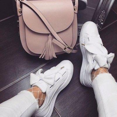 buty puma damskie z kokardą