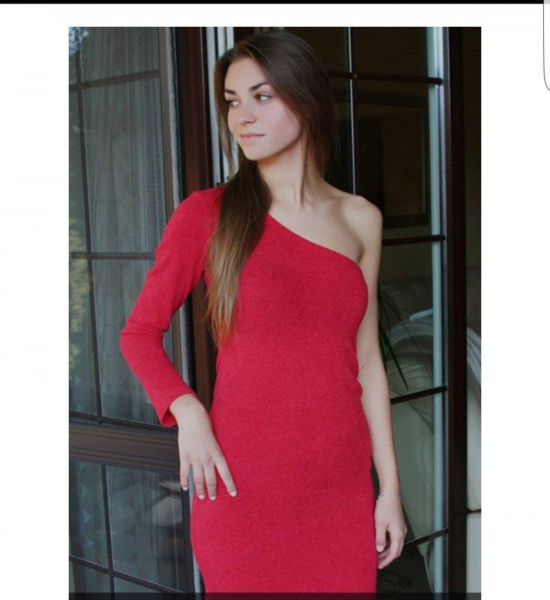 b6a6d614c6 Sukienka mini czerwona na jedno ramię - gdzie kupić