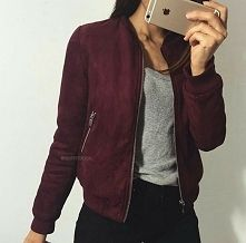 2b1eba0e0f87c bordowa bomber jacket - gdzie kupić ? , #bordowy, #bomberka, #zamsz,  #jacket, #bomber