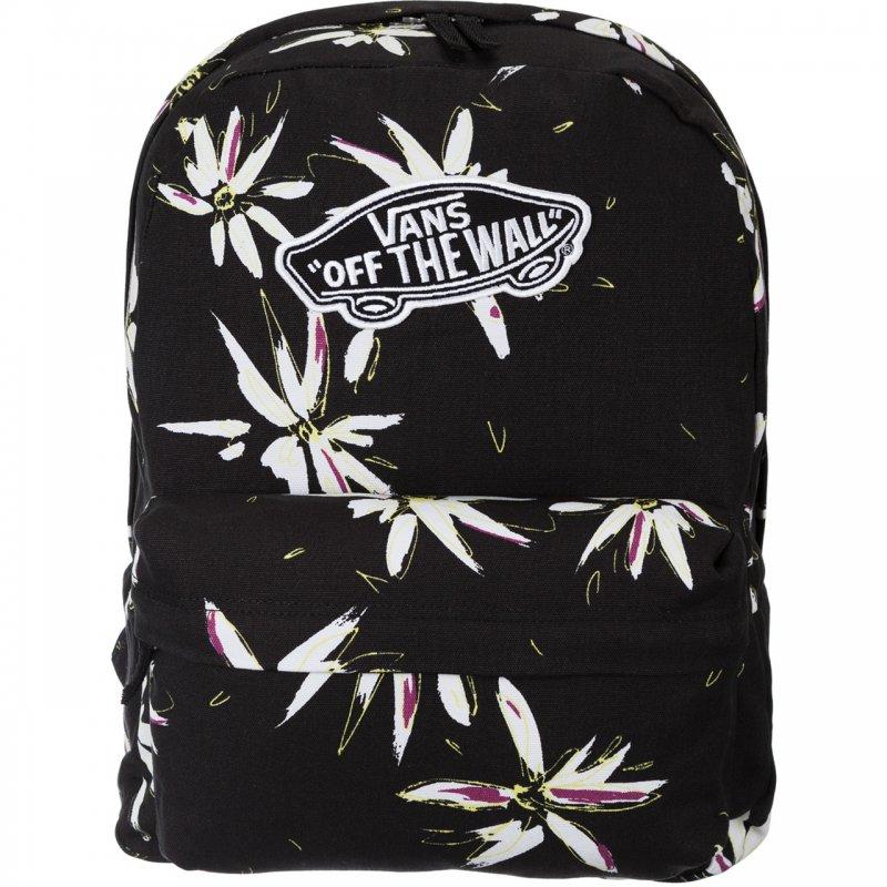 plecak vans w białe kwiatki