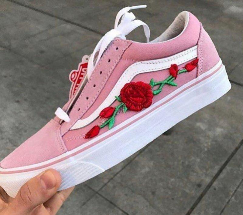 Vansy gdzie kupić ? , #vans, #róże, #haft